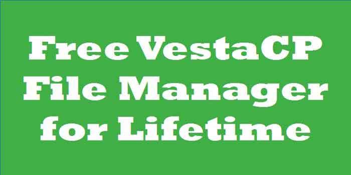 Get VestaCP File Manager Free for Lifetime
