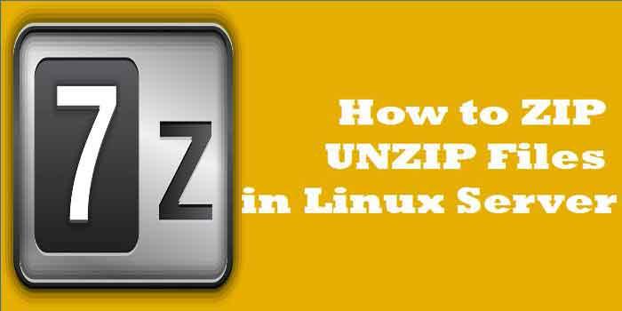 How to ZIP UNZIP Files in Linux Server